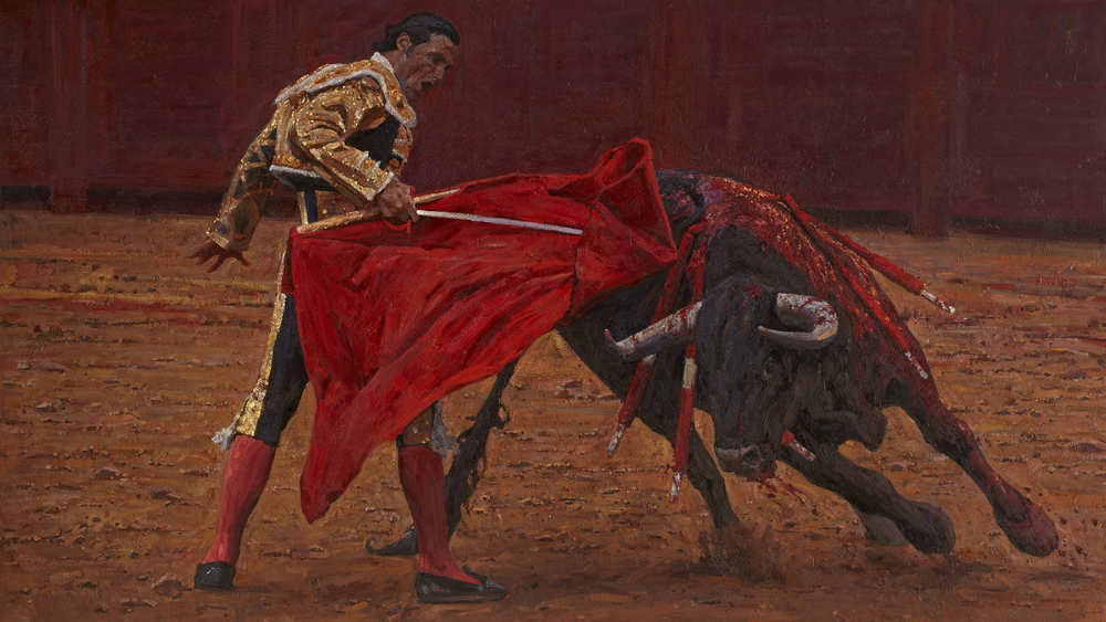"Timur Akhriev  Title: Last Moment  60"" x 108"" Oil on Linen. 2013. Sold Through Lovetts Gallery."