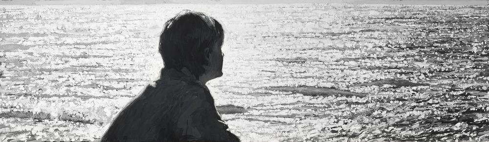 "Coastal Dreams  8,5"" x 29,5"", Gouache on Paper, Year: 2015, Price: $2000"