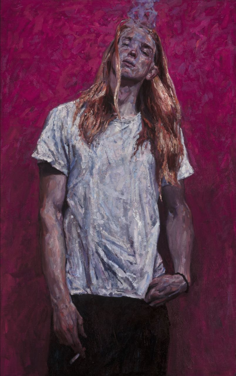 "Timur Akhriev  Title: Youth  30"" x 50""  Oil on Linen, Year: 2015.  Winner of Award of Excellence in Oil Painters of America National show in Dallas, TX at Southwestern Gallery."