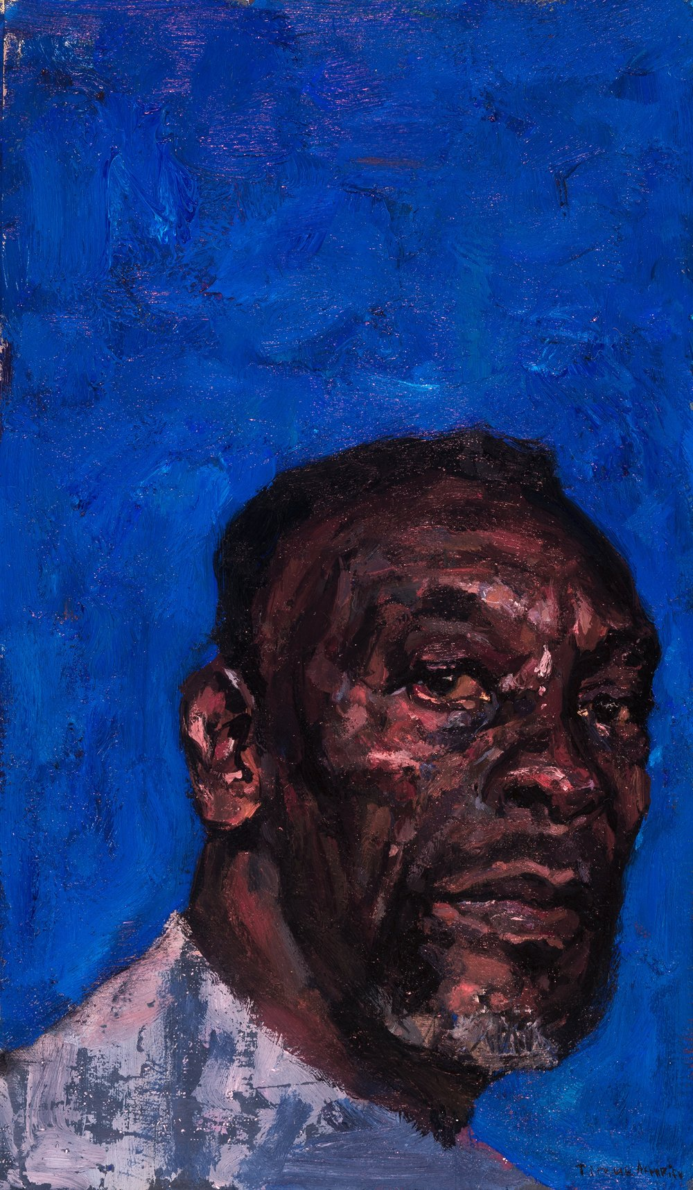 Timur Akhriev Title: Poet I Size: 7 x 12 Oil on Linen Panel Sold