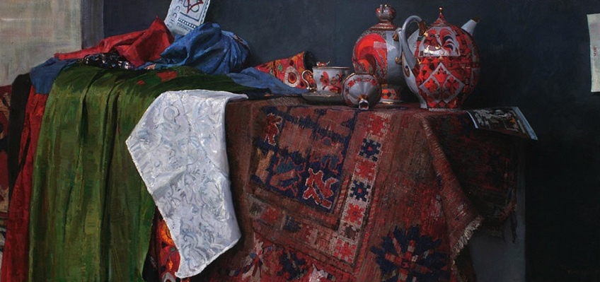 Title: Still life With Russian Tea Pots  Sold