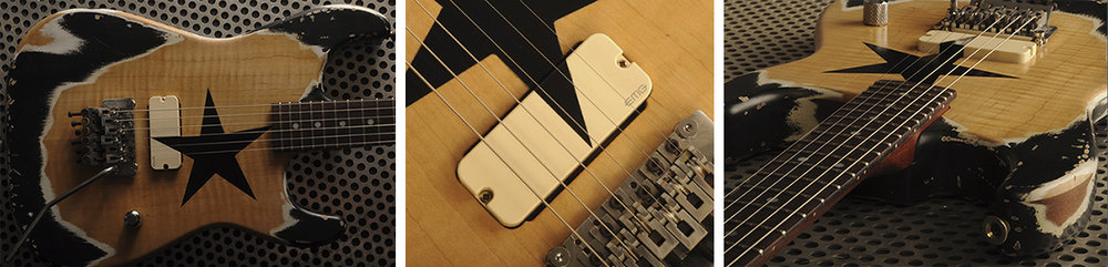 "We have bench tested the ""wave"" and delved deep into other fundamental tests which caused us to arrive at the single pickup guitar body. It is logical that this pickup configuration makes sense tonally.  Pictured above is an AXN™ Model 2 guitar. This AXN™ guitar is made to do only one thing... ROCK.  The single pickup configuration is a powerful option offering exceptional tone and versatility. A single pickup guitar body where wood mass is strategically focused is no new thing nor is it a big secret. Executed properly more wood adds up to a robust, aggressive and superior rock-n-roll tone in our AXN™ guitars.   #5 - Control Cavity Shape and wood Mass   We discovered after years of building guitars that the control cavity placement as well as pickup routing play a large role influencing the vibration of the guitar string and harmonic sustain."