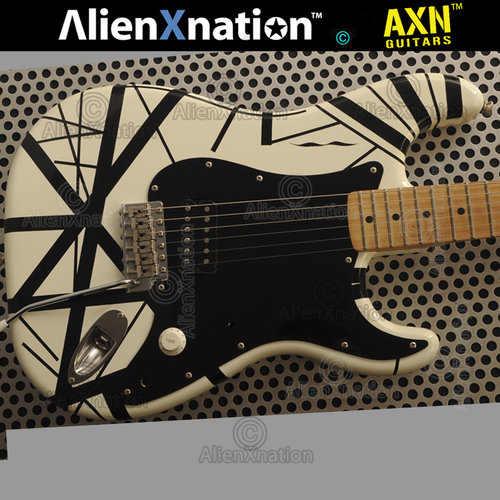 Esp Eddie Van Halen Frankenstrat Black White Striped