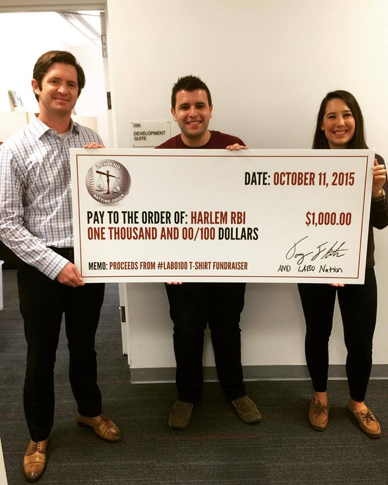 $1000 Donation to Harlem RBI