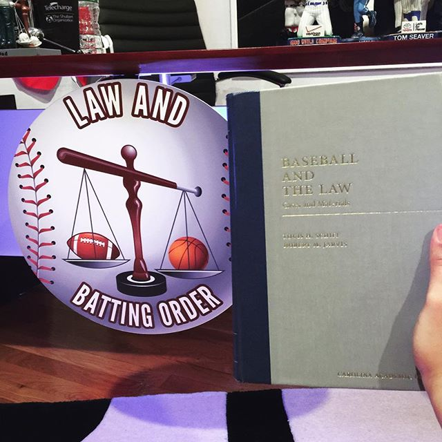 "Just finished speaking to Judge Lou Schiff, a Mitchell Hamline Law professor and co-author of the ""Baseball and the Law"" casebook.  Our interview will go live this Sunday, September 4th. We'll be talking about the book, antitrust law, labor law, and much more.  Quick editorial: I read the casebook cover to cover and it is a real masterpiece. Loads of info and the case notes are superb. If I ever have the privilege of serving as an adjunct professor at a university or a law school, there's no doubt that I would use this book to teach a baseball law course."