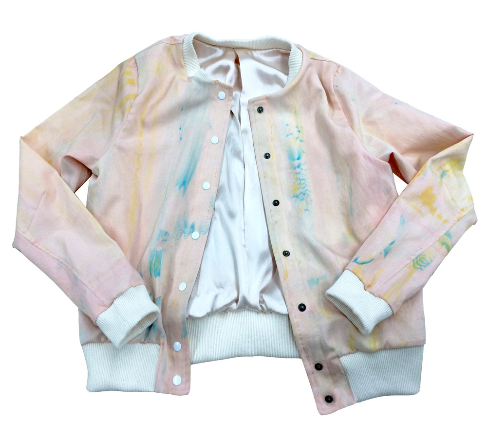 CUSTOM WATERCOLOUR SILK SCREEN-PRINTED JACKET