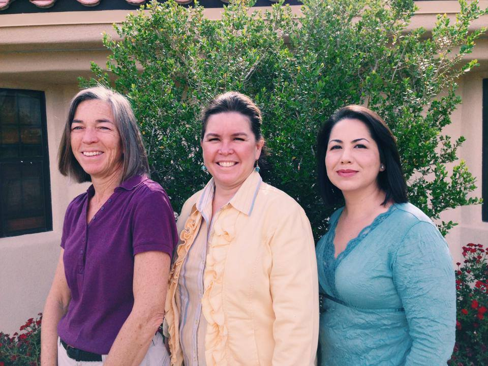 Our fantastic Admissions team: Tracy Bredin, Julie Stanton, and Sylvia Chavez