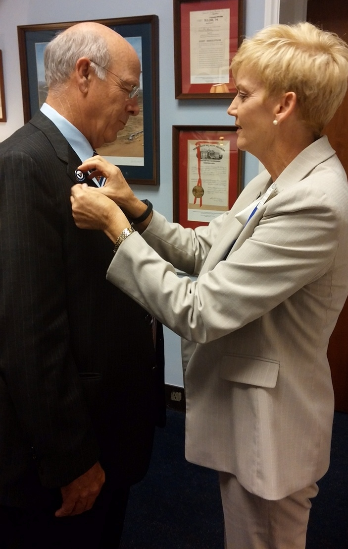 Hospice Action Network 2015 Congressman Pierce Kathy Olson WHV Pinning.jpg