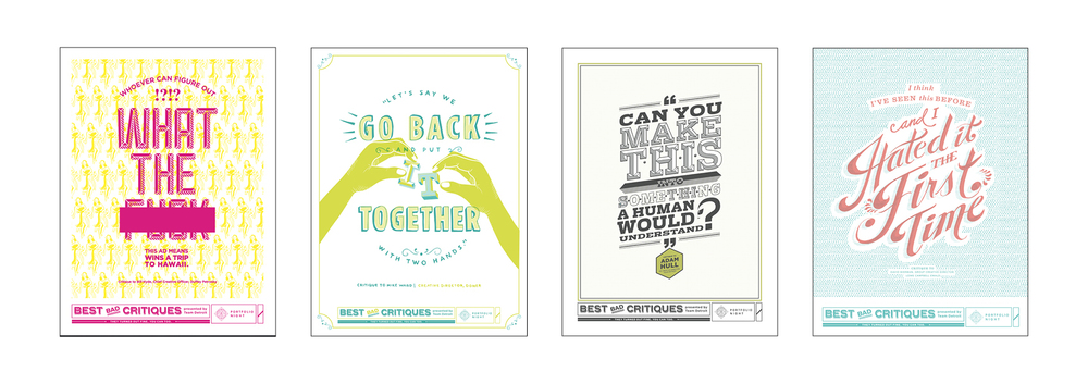 A couple other posters from the series designed by other talented designers from our team