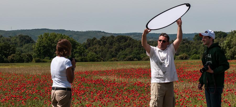 Workshop in a poppy field
