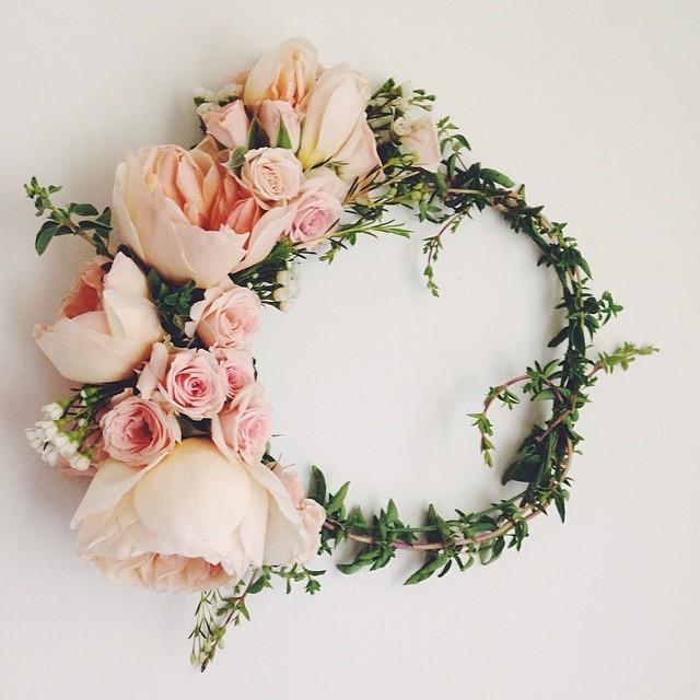 DIY wedding flower crown