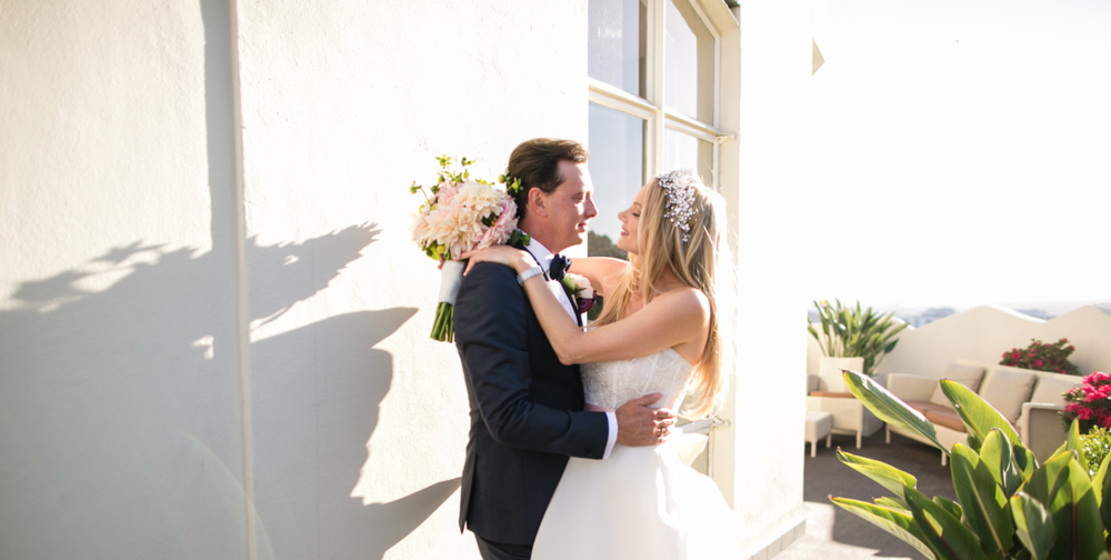 Libby and Donovan - Sunset Tower Hotel, Hollywood -                                                                                                                                                Florals
