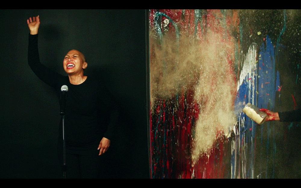 Xaviera Simmons, Number 16, Performance Still, Digital Video, 2015, Courtesy The Artist and David Castillo Gallery
