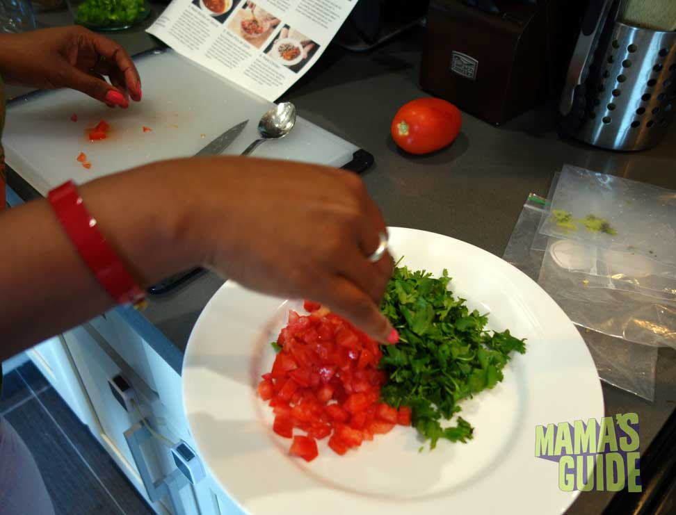 Making pico de gallo is a dice-heavy endeavor--my knife skills could use some work