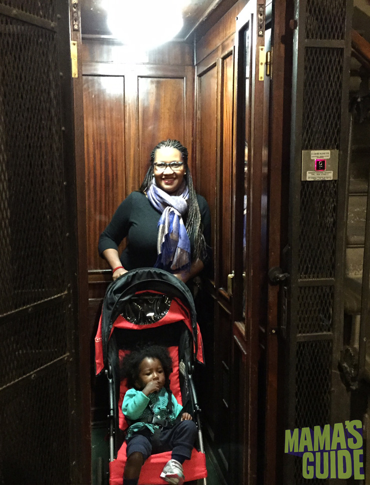 Our tiny yet functional elevator in Florence. After climbing four flights of stairs for five days in Rome we loved it!