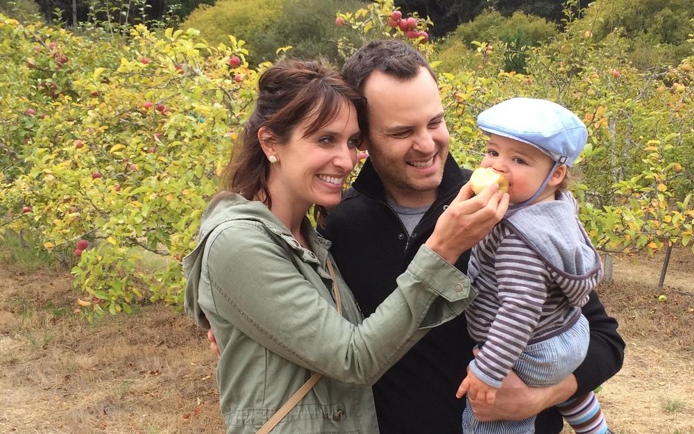 Cara, hubby Andrew and baby Sullivan!