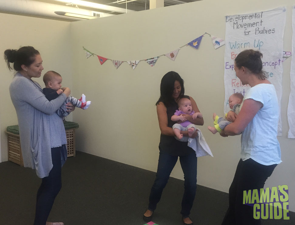 I dropped in on an infant developmental Movement class. Seriously it was the cutest thing ever!