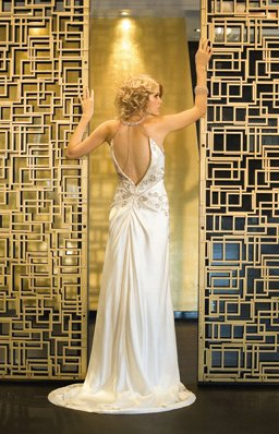 Beautiful Gatsby inspired gown by Deborah Selleck
