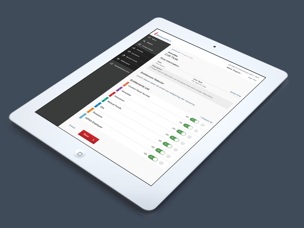 Control Panel Application: Touch enabled