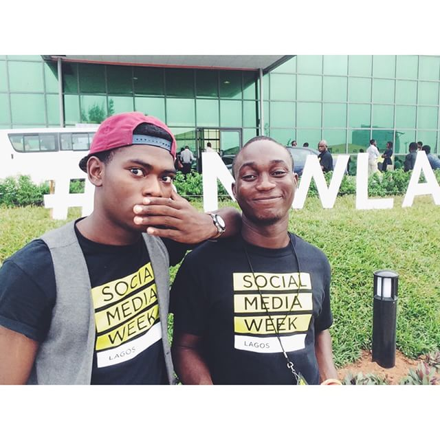 ☺️ these guys... @badmantej & @ayofunlajoy - the reason I kept my sanity during @smwlagos. Hilarious! 😂 #lagos #nigeria #smwlagos