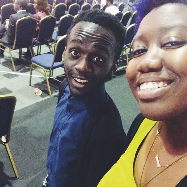 Moyo el Pollo. Congrats on your first @smwlagos!  You're still not my boss doe. So we traveled abroad together so that means you can never get rid of me. The. Bond. Is. There. For. Ever. 😁 #tryme #smwlagos @moyo3k