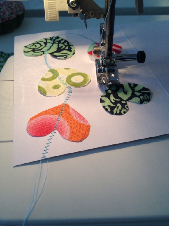 Sewing Valentine's Day Cards
