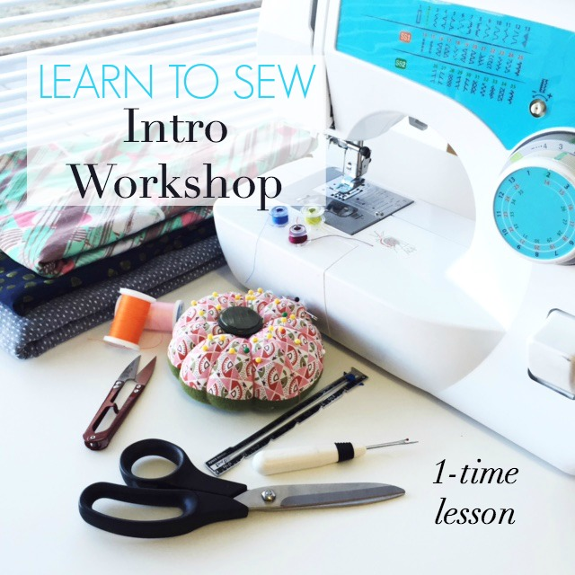 Learn to Sew, Workshop for Adults | Sew You Studio.com