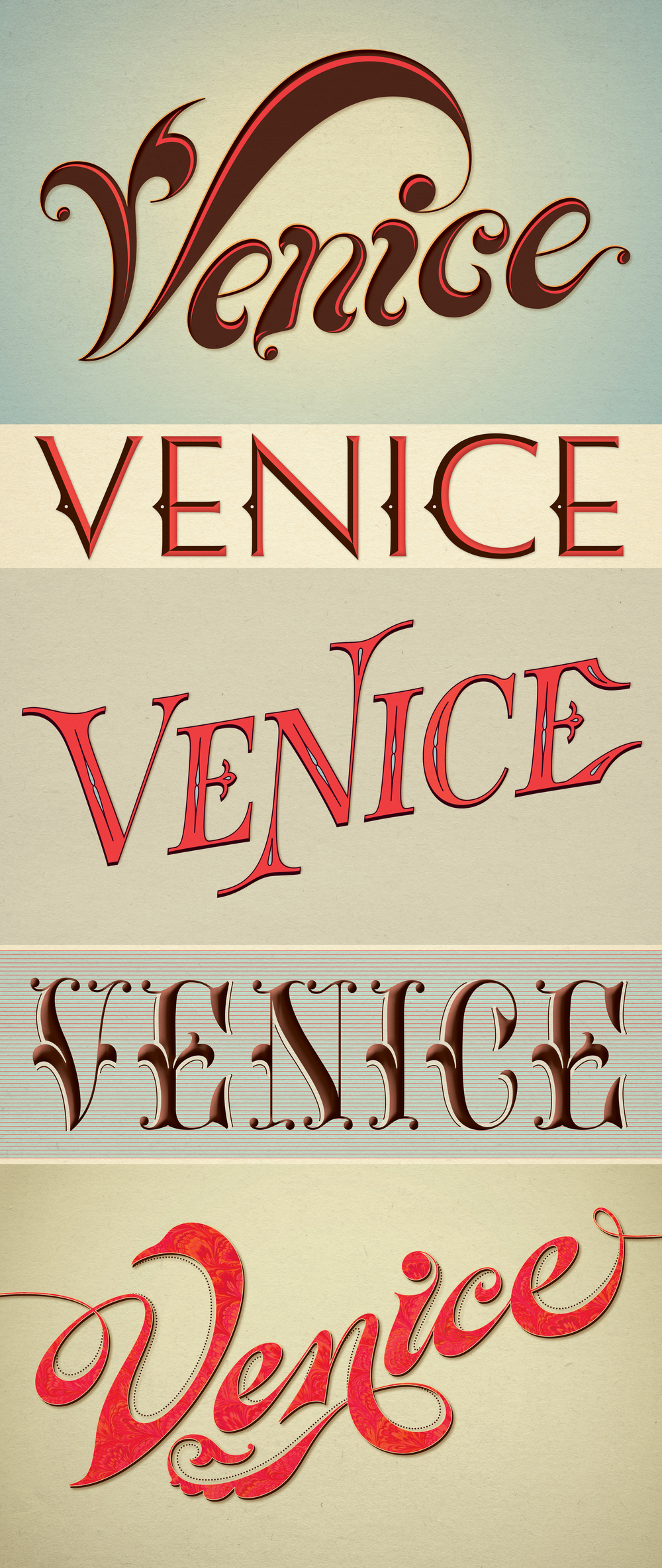 Custom lettering for vintage-inspired poster