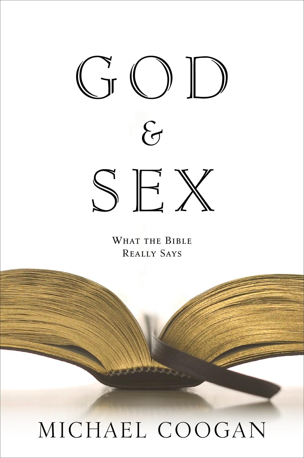 Twelve | alternative cover option for  God and Sex : spread-open ''pages,'' inserted ''book mark''