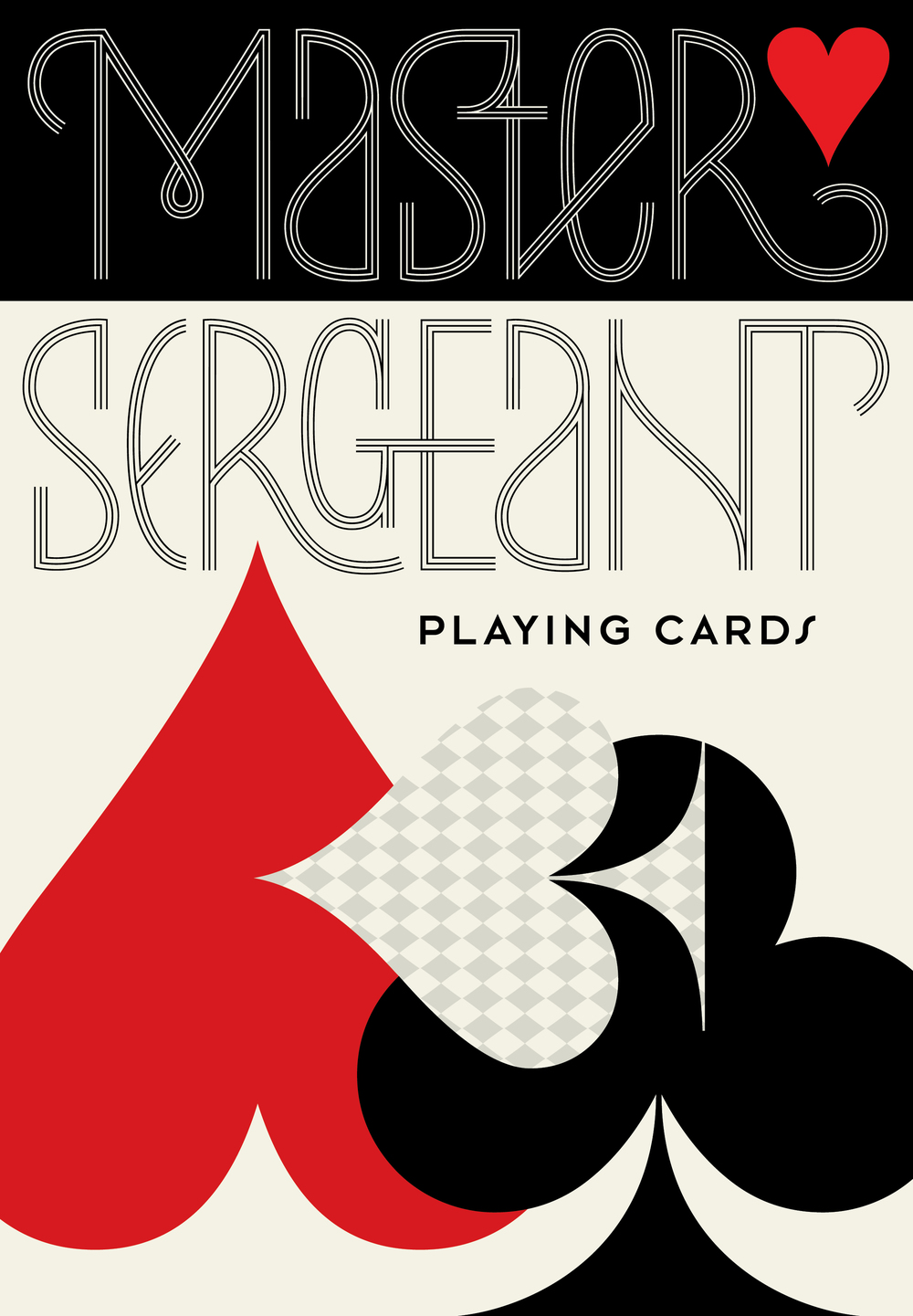 Master Sergeant Deck of Cards | Custom Lettering and Design