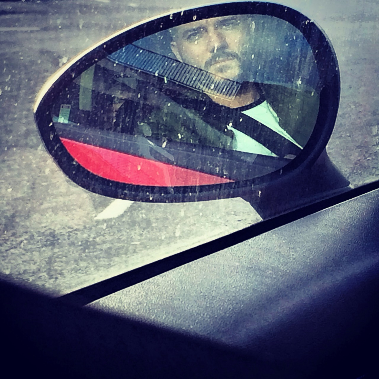 Wing mirror portrait