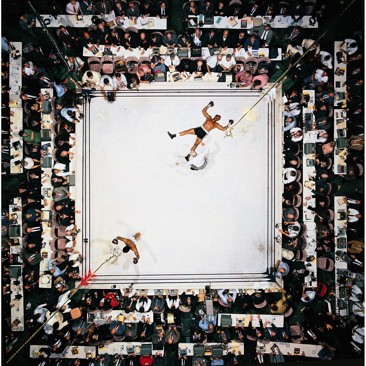 likeafieldmouse :      Neil Leifer  -  Muhammad Ali Vs. Cleveland Williams  (1966)     Stunning shot and composition