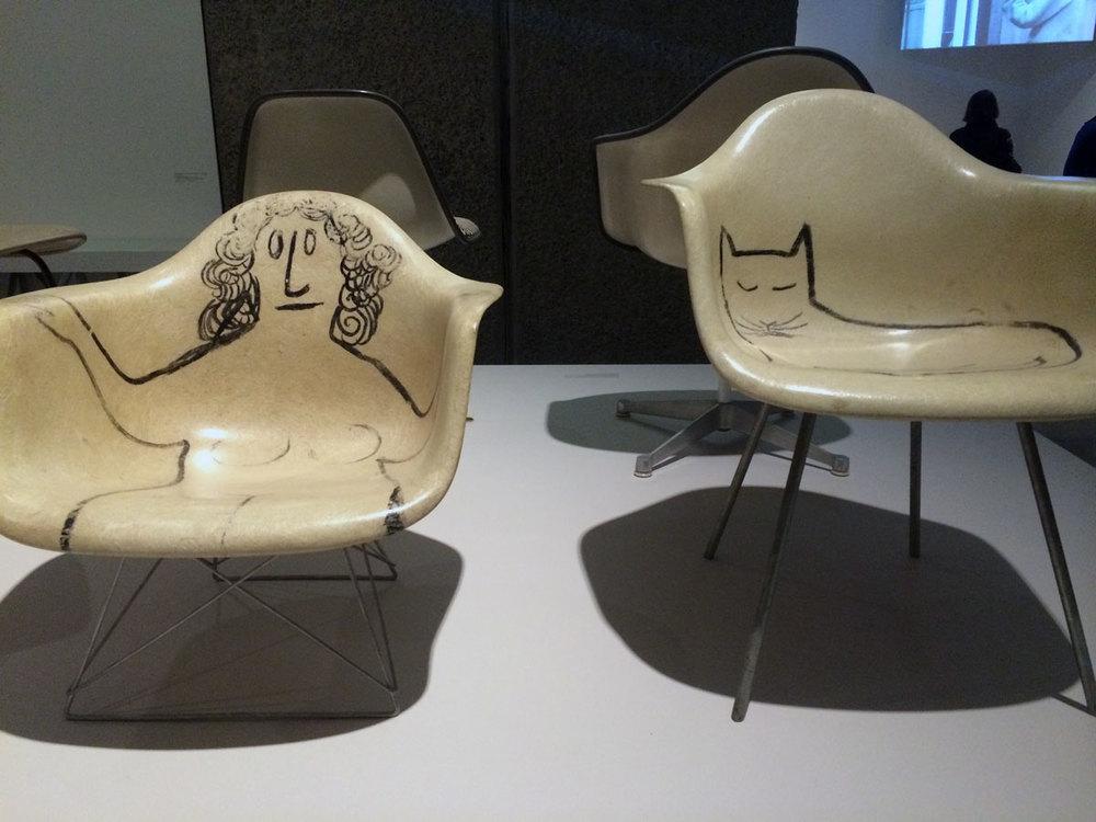 Saul Steinberg armchairs