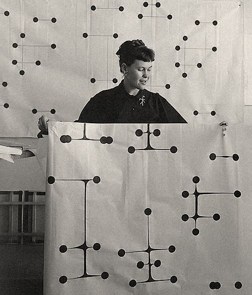 Ray Eames : Dot Pattern Textile 1947