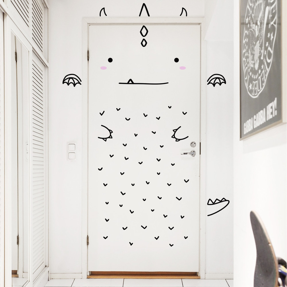Salt loves blog - Made of Sundays Aaron the Charming Dragon door decal