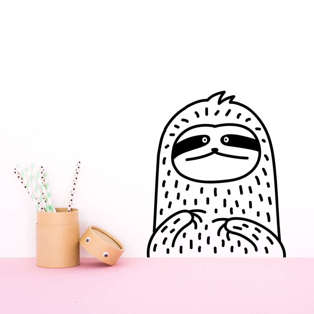 Salt loves blog - Made of Sundays Tiny Waffles the Sloth wall decal