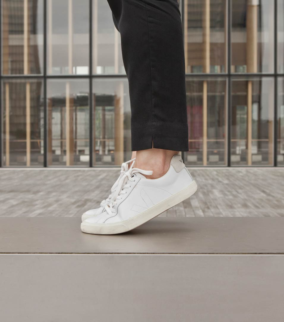 Salt loves blog - Veja Esplar white leather trainers