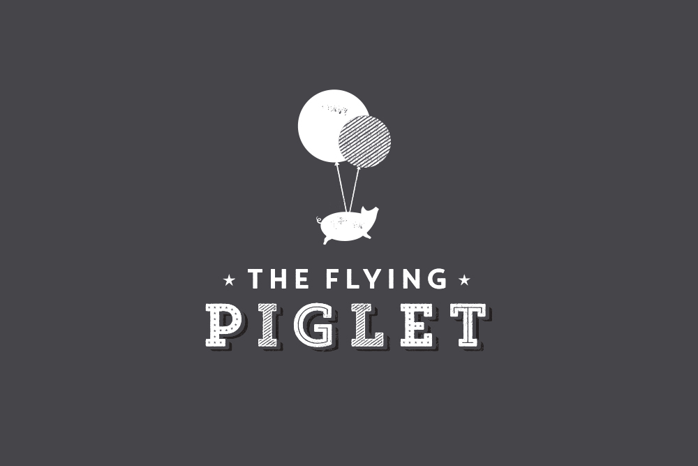 The Flying Piglet logo Salt Design