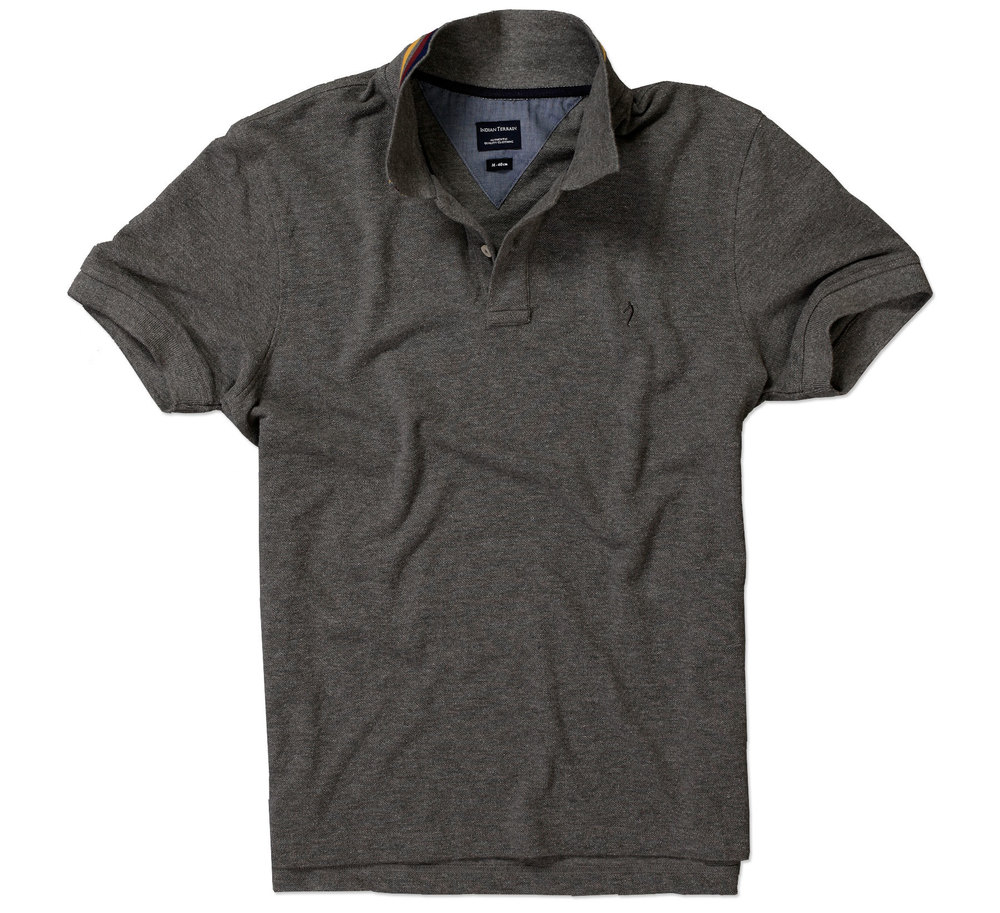 Grey Polo Shirt for Men