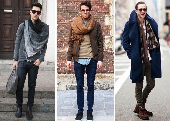 men with scarf-stole