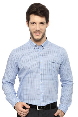 Wearing a checkered shirt at work is not only stylish but also a way of being out of those stereotype attires.