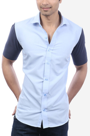 A casual not necessarily has to shout. This contrasting sleeves cotton shirt will speak for itself.
