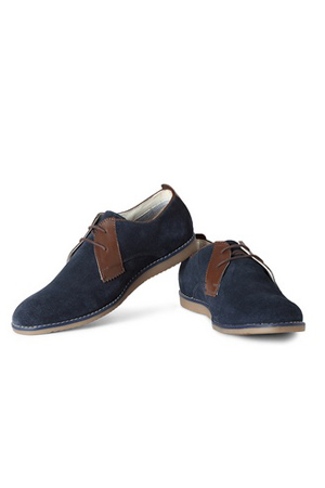 This blue lace-ups is precisely for those dapper looking men who are beyond blacks and browns.