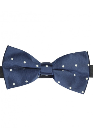 Polka dots bow-tie, when you are just too bored with your usual neck-ties, add this to your attire.
