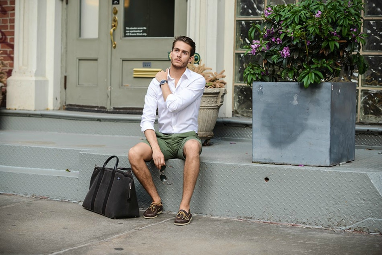 loafer-with-shorts-casual style