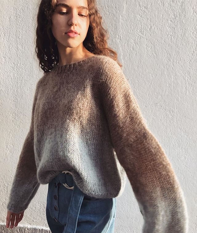 Last piece of this wonderful #handknit ☁️ #mohairwool #sweater available in our #boutique and #onlineboutique! . . . . . . #cozy #knits #knitwear #viviangraf #saturdayshopping #shopzürich #shopsmall #shoplocal #niederdorf #zürich #handmadwithlove #soft #welovewool #babyblue