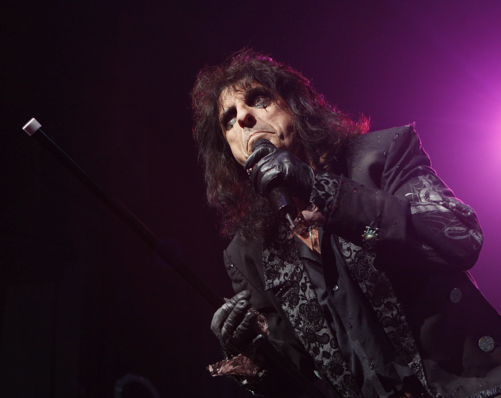 Alice Cooper during live concert