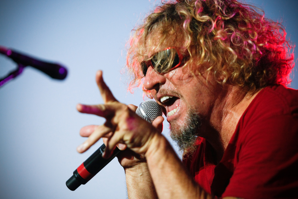 Sammy Hagar singing on stage