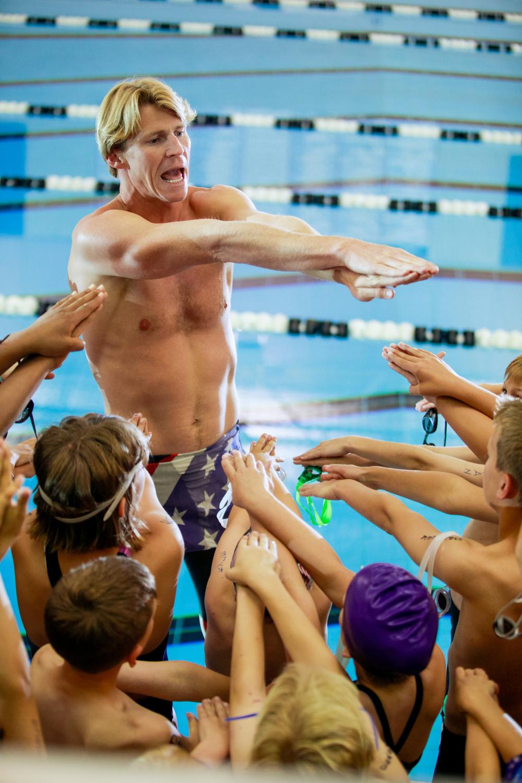 swim teacher portrait at the pool