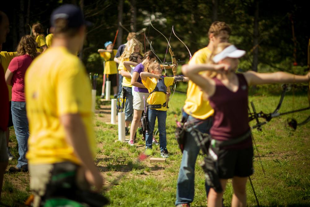 archery lessons portrait outdoors